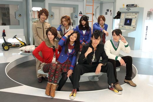 Image result for kamen rider fourze cast